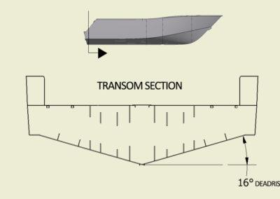 CNC Marine Deadrise_Transom